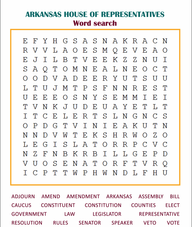 Learn the Terms: Word Search