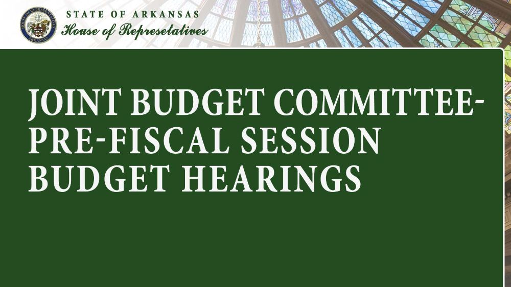 Joint Budget Committee- Pre-Fiscal Session Budget Hearings