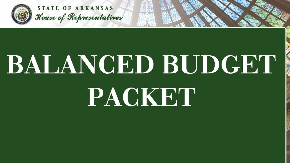 State of Arkansas Balanced Budget Packet