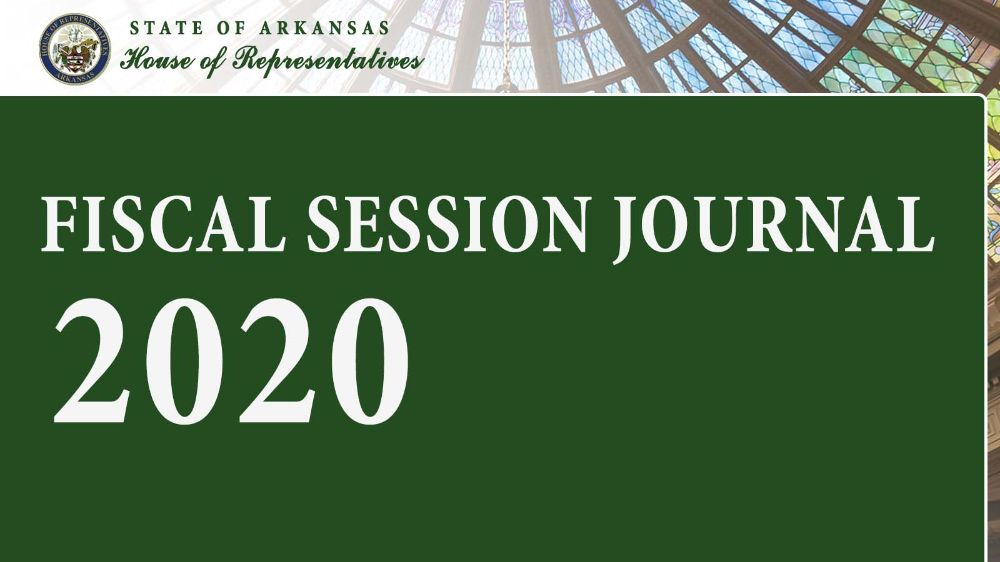 2020 House Journal: Fiscal Session